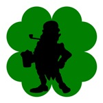 Leprechaun With Beer Shamrock