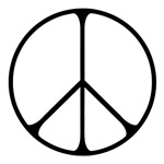 Elegant Peace Sign ~ A simple yet elegantly stylish rendering of this venerable symbol of peace.