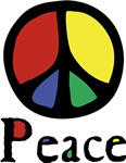 Flowing 'Peace' Color ~ Our freehand interpretation of the venerable peace symbol with a little