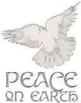 Peace on Earth ~ A white dove of peace accompanies this divine affirmation.