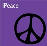 Purple iPeace Sign ~ Mixing iPods and Peace.