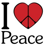 I Love (Heart) Peace ~ Some people Heart NY. I Heart Peace.