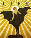 Bat Lady Art Deco Flapper Pin Up