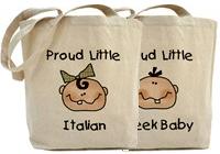 Baby Nationalities Tote Bags
