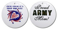 Patriotic USA & Support Our Troops Ornaments!