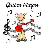 Stick Figure Guitar Player T-shirts and Gifts