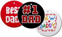 Dad Keepsake Rounds and License Plate Frames!