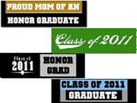 Graduation Bumper Stickers