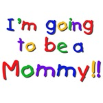 Primary Colors Future Mommy Tshirts and Gifts