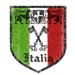Italian Flag Crest