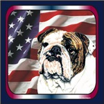 Bulldog Patriotic USA Flag Designs