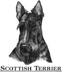 Scottish Terrier Scotty Black & White Designs