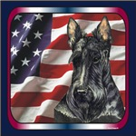Scottish Terrier Scotty Patriotic USA Flag Designs