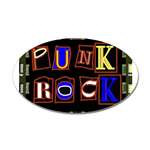 Punk Rock Design Sticky Stickers