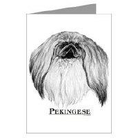Pekingese Dog Note and Post Cards