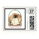 Pekingese Holiday Stamps Cards Prints Posters