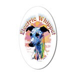 Electric Whippet Dog Stick Um Up Stickers