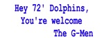 Hey 72' Dolphins...