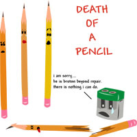 Death of a pencil -