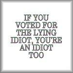 If you voted for the lying idiot...