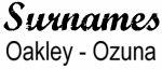 Vintage Surname - Oakley - Ozuna