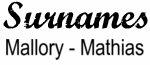 Vintage Surname - Mallory - Mathias