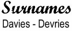 Vintage Surname - Davies - Devries