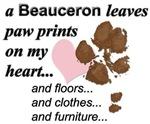 Muddy paw prints on my heart