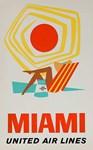 Miami, Travel, Vintage Poster