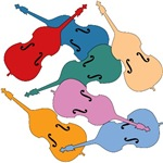 Colorful Double Basses