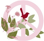 Peace Sign with Bird