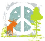 Moose and Peace Sign
