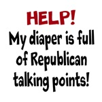 Help! My Diaper is Full of Republican Talk Points!