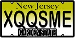 Excuse Me New Jersey Vanity License Plate Design