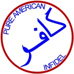 Pure American Infidel Red White & Blue T-shrits