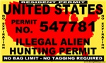 Anti ILLEGAL Immigrant Bumper Stickers