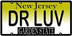 DR LOVE New Jersey Vanity License Plate Design