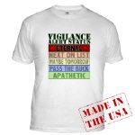 Vigilance Alert T-shirts and Sweats