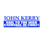 Anti-John Kerry Bumper Stickers