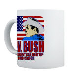 Cowboy G.W. Bush Mugs