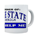Prisoner of the Blue States Mugs