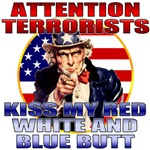 Uncle Sam Anti Terrorist T-shirts & Gifts (clean)