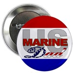 USMC Dad Buttons & Magnets