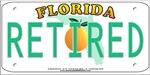 Florida Retired Vanity Plate