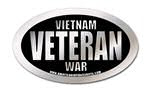 vietnam war veteran oval sticker
