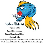 Blue Fishtini Martini T-Shirts