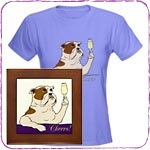 Champagne Toast Bulldog T-Shirts and Gifts