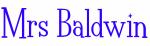 Mrs Baldwin