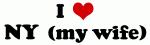 I Love NY  (my wife)