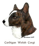 Cardigan Welsh Corgi items with brindle design